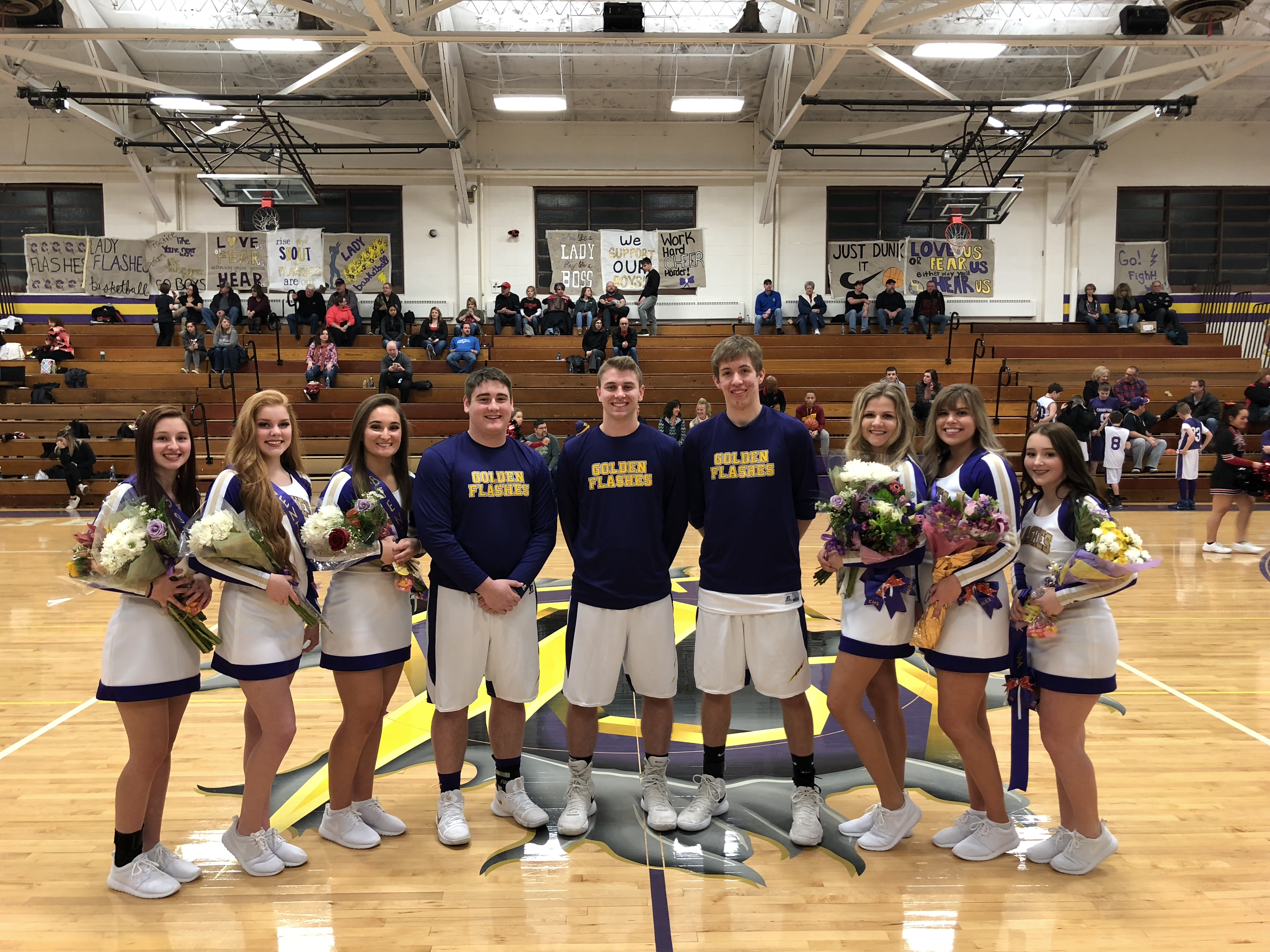 Sr. Night for Boys Basketball and Cheerleader
