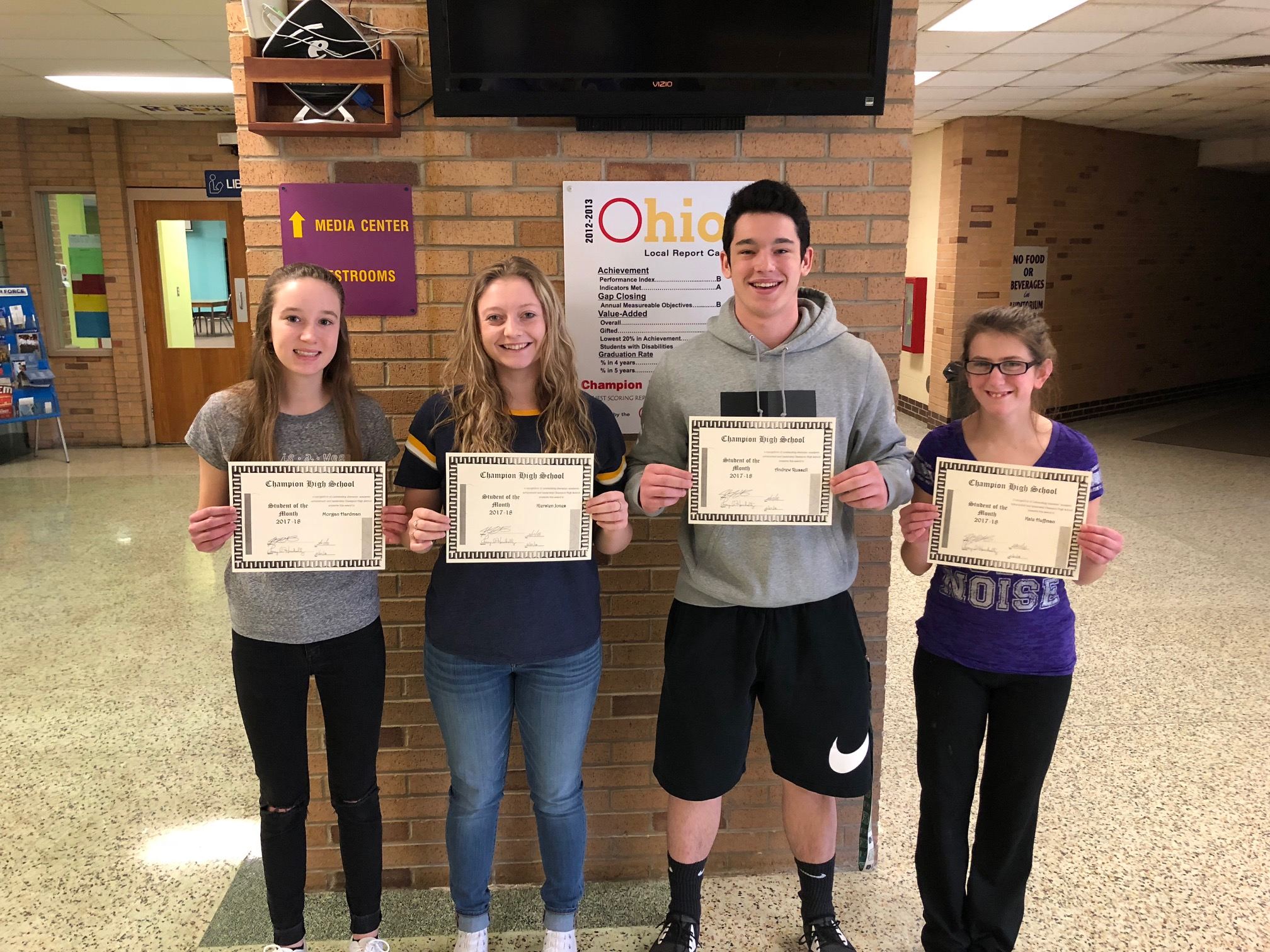 Champion High School Students of the Month